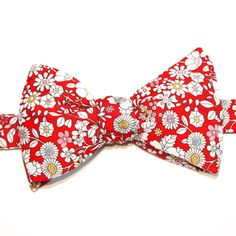 Noeud papillon Liberty June Meadow Rouge  Red June's Meadow Liberty Bow Tie