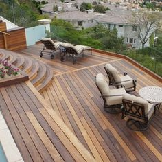 Love the wood on the patio - this needs to be overlooking the ocean though