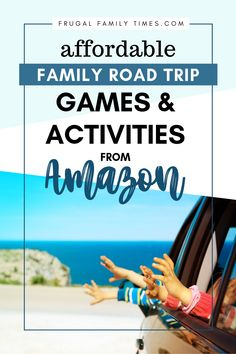 Make the drive fly by with fun road trip games and activities for kids! This list will help: truly fun games, low mess crafts for the car, activity books that use their brains - and take up time. This list couldn't be easier to pull together - it's all linked to Amazon for you - so it's as simple as adding to one cart! #familyroadtrip #familyfun #roadtrip #familytravel #cartrip #familygames #kidscrafts