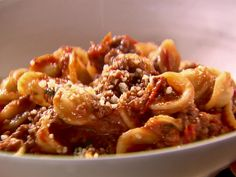 Weeknight Bolognese recipe from Ina Garten via Food Network