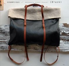 Leather Nap Sac 2013 - { SCRUMPCIOUS ON LINE STORE }