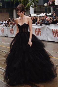 Dakota Johnson's dress for TIFF is just *chefs kiss* Grad Dresses, Ball Dresses, Bridal Dresses, Ball Gowns, Elegant Dresses, Pretty Dresses, Beautiful Dresses, Formal Dresses, Mode Outfits