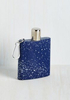 Splatter-Day Night Flask. Call on this portable flask to tote your signature cocktails! #blue #modcloth
