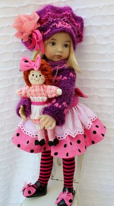 """Raggedy Ann Doll And Dress Set With Shoes Little Darlings Effner 13"""" by Barbara #DiannaEffner"""