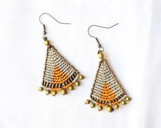 African Boho Chic Brown Earrings MADE TO ORDER by OuiClementine