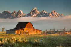 "500px / Photo ""Moulton Barn and Tetons"" by Rory Wallwork"