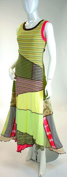 Brenda Abdullah: Long Sleeveless Zigzag Dress via Flickr