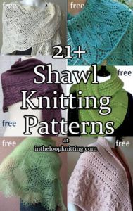 Knitting Patterns for Shawls and Wraps. Most patterns are free