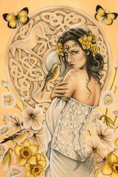 The Goddess Epona in the Spring. Epona is a Celtic Goddess, and helps to manifest dreams. She is most known for being the protector of travel (horses, mules and donkeys). She was the only Celtic Goddess honored by the Romans by having a temple in their capital city.