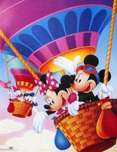 Mickey & Minnie Mouse & Donald & Daisy Duck