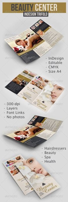 Natural Day Spa  Massage Tri Fold Brochure Template HttpWww