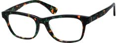 Green Square Tortoiseshell Eyeglasses #44135 | Zenni Optical Eyeglasses