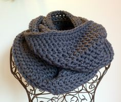 Cosy womens loopedcrochet cowl scarf - 100% machine washable wool. Custom colours. | Felt