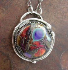 Peacock Lampwork pendant by Simply_Adorning, via Flickr