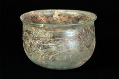 Object of the day: Glass bowl, Roman, ca. 100 AD, KSUM 1983.4.136. This remarkable piece that is almost 2000 years old is currently on view in the glass exhibition in our Tarter/Miller Gallery.