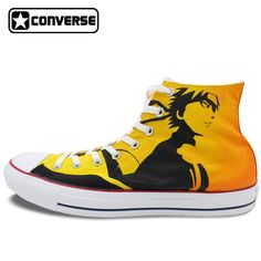 109.65$  Watch here - http://ali1fa.worldwells.pw/go.php?t=32604754470 - Anime Uzumaki Naruto High Top Converse All Star Women Men Shoes Custom Design Hand Painted Shoes Yellow Sneakers Unique Gifts