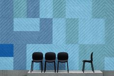 BAUX Acoustic Panels are made from of the same natural materials as BAUX Acoustic Tiles – wood wool, cement and water.