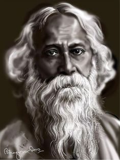 Portrait Digital Art - Rabindranath Tagore by Bhagvan Das Tagore Quotes, Freedom Fighters Of India, Indian Army Wallpapers, Bengali Art, Calcutta, Cute Love Images, Beautiful Verses, Famous Pictures, Rabindranath Tagore