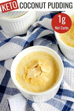 In search of a traditional style low carb pudding? You'll love this creamy coconut pudding that's made with coconut milk and cream cheese. Free Keto Recipes, Beef Recipes, Baking Recipes, Vegan Recipes, Dessert Recipes, Keto Desserts, Coconut Milk Pudding, Mousse Dessert, Pudding Recipes