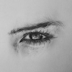 Realistic eye drawing by Realistic Pencil Drawings, Pencil Art Drawings, Art Drawings Sketches, Eye Drawings, Detailed Drawings, Eye Pencil Drawing, Pencil Sketching, Art Illustrations, Art Quotidien