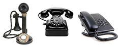 Pöytäpuhelimen kehitystä: kuvassa ensimmäisenä on 1900 luvun alkupuolella…