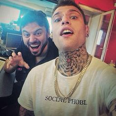 Fedez: from X Factor Italy wears Social Phobia tee.   www.coreterno.com