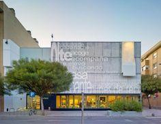 Public Library of San Vicente del Raspeig Library Architecture, Facade Architecture, Contemporary Architecture, Acoustic Barrier, Islamic Art, Store Design, Outdoor Decor, Velasco, David