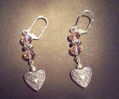 Sweethearts Dangle Romantic Earring by TheRedCrab on Etsy