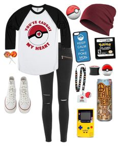 """"""" I wanna be the very best"""" by simply-punk ❤ liked on Polyvore featuring Paige Denim, Converse, CellPowerCases and Marc"""