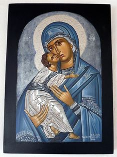 Magnificent Orthodox Icon of Panagia with Christ Child Religious Images, Religious Icons, Religious Art, Byzantine Icons, Byzantine Art, Religion Catolica, Blessed Mother Mary, Mary And Jesus, Holy Mary