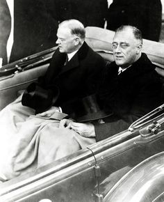 "ancientfaces: "" Franklin Delano Roosevelt's Inauguration Franklin Delano Roosevelt and President Herbert Hoover on their way to the U. Capitol Building for FDR's inauguration in Franklin. Franklin Roosevelt, Roosevelt Family, President Roosevelt, Our President, Greatest Presidents, American Presidents, Us History, American History, Crime"