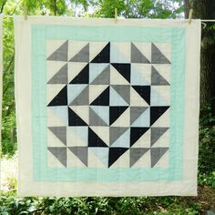 Hey Baby Craft Co.: Stella Blue Patchwork Unisex Baby Quilt #MarthaStewartAmericanMade