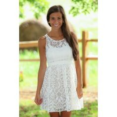 Just Say Yes Dress-White - $82.00