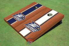 Georgia Southern University Head Logo Rosewood Alternating Long Stripe Cornhole Boards