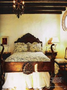 spanish colonial style bedroom furniture headboards spanish style. This is a beautiful bed!