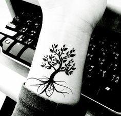 Tattoo tree add 3 small birds in kids birthstone colors