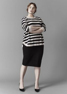60 Fabulous Plus Size Striped Shirt Outfits Ideas https://fasbest.com/fabulous-plus-size-striped-shirt-outfits-ideas/
