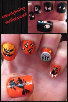 All Halloween nails