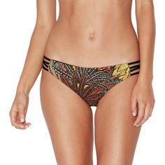 0a5f0df553 L Space NEW Black Women Size Small S Cutout Printed Bikini Bottom  84  123  SALE