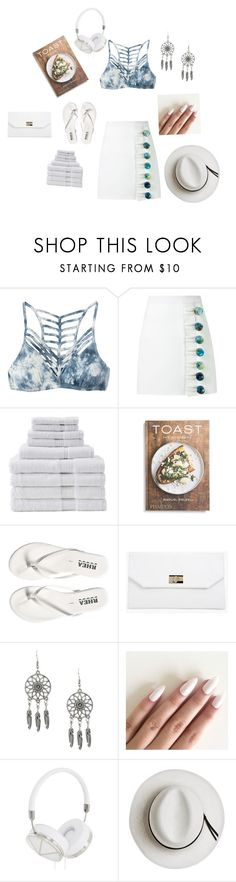 """I sat by the ocean"" by catofcherryblossoms ❤ liked on Polyvore featuring RVCA, Christopher Esber, House & Home, PHAIDON, Boohoo, Frends, Calypso Private Label, Summer, beach and summerhat"