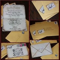 Harry Potter Invites... Expect one in June for my 25th birthday party....