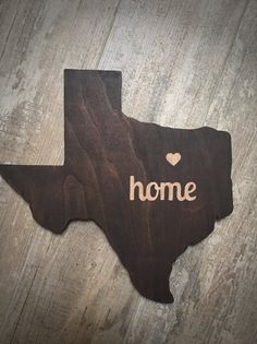 This Texas is perfect for a nursery or in a gallery wall! Crafted from hardwood approx. 3/4 thick. Length and height vary based on state.