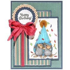 Stampendous Cling Stamp PARTY PEEKING Rubber UM HMCP74 House Mouse zoom image
