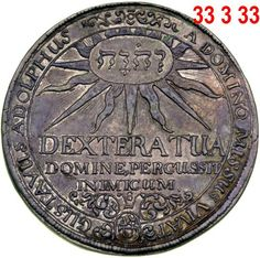 JEHOVAH'S NAME  found on coin from the reigning king of Sweden 1611 to 1632