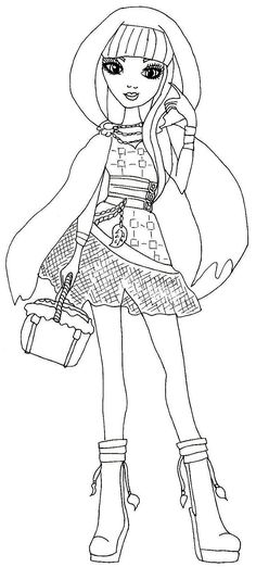 Free Printable Ever After High Coloring Pages Cerise Hood Page