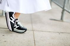 Pin for Later: You're About to Obsess Over NYFW's Best Street Style Accessories Day 4 Hogan sneakers.