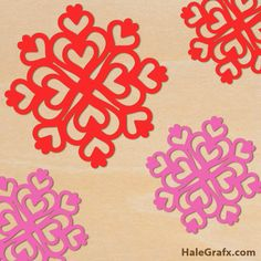valentines heart snowflake FREE Valentines Day Hearts Snowflake SVG File