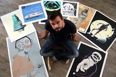 Mira el dibujante que conquistó Internet