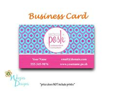 42 Best Posh Business Cards Images Posh Party Posh Love