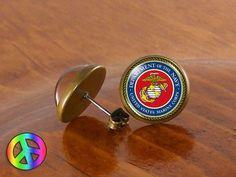 US United States Navy Military Earrings Stud Jewelry Men Mens Women Gift